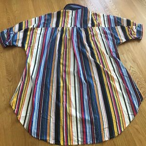 High/Low Striped Top. Brand New.. (Too big)